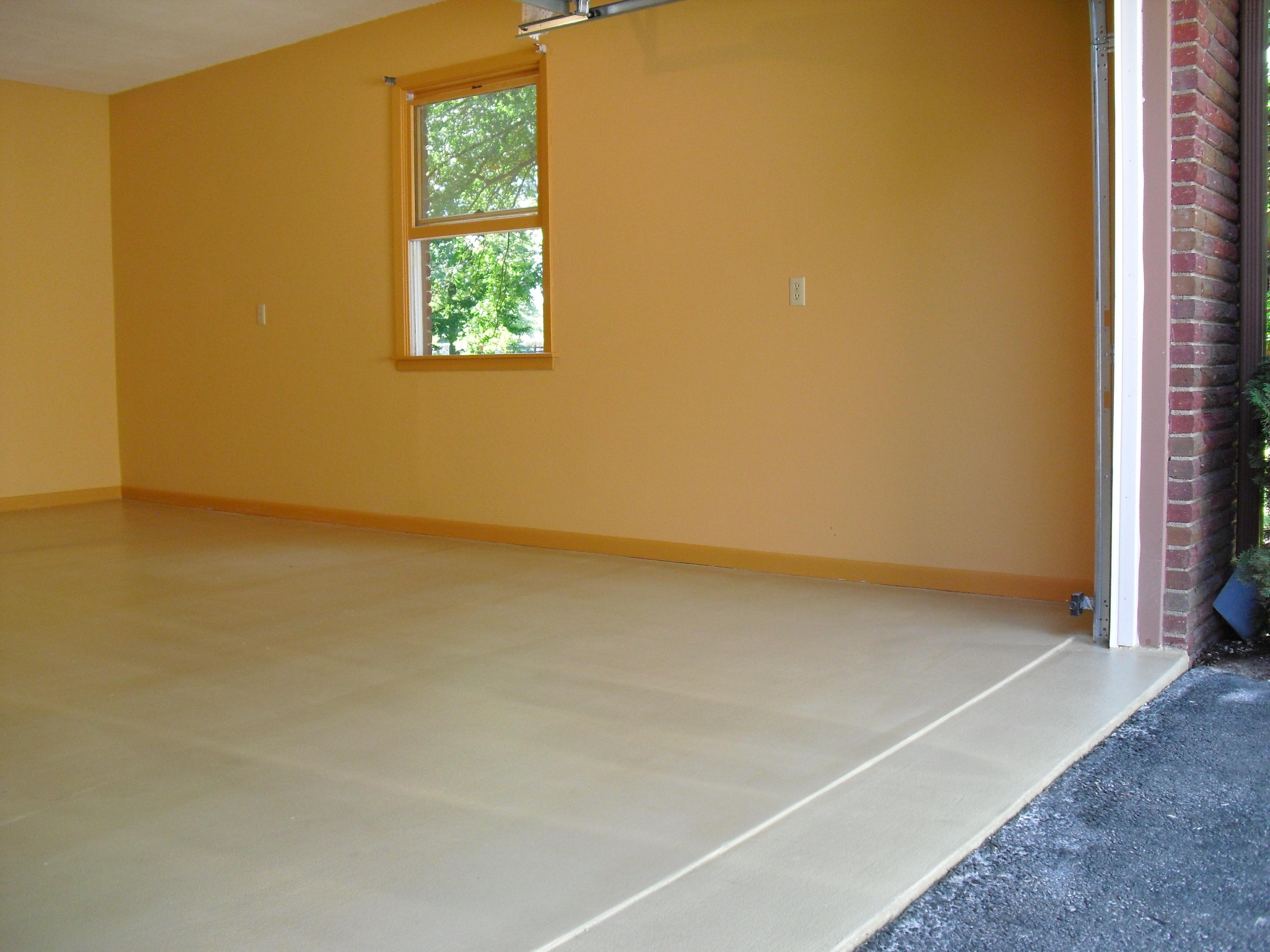Garage floor concrete