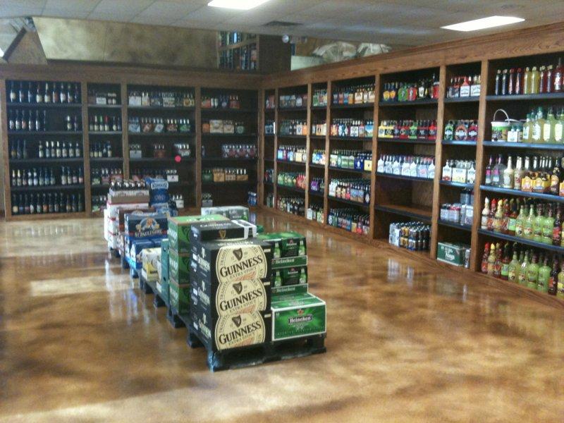 Liquor store floor lining