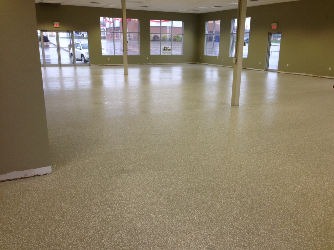 Commercial concrete floor
