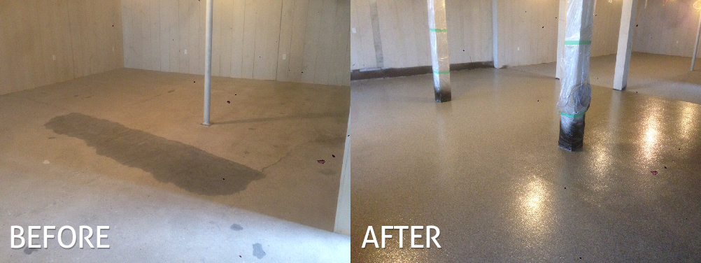 Commercial Before After concrete floor