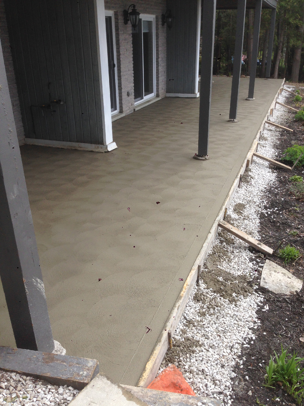 Concrete Before and After patio