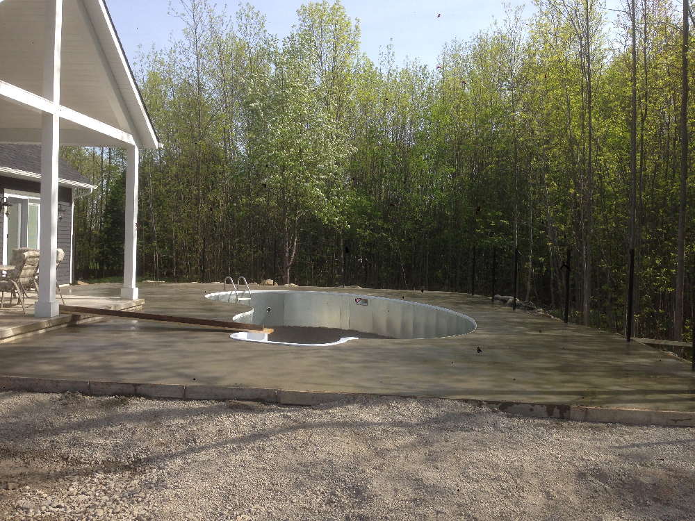 Concrete Before and After pool