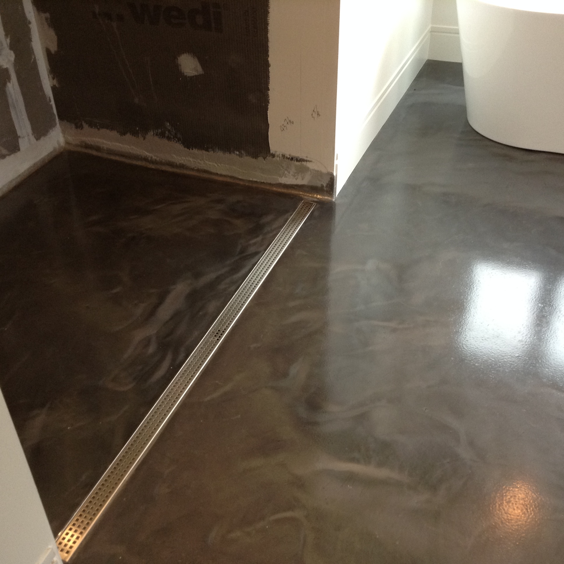 Reflector Enhancer concrete floor