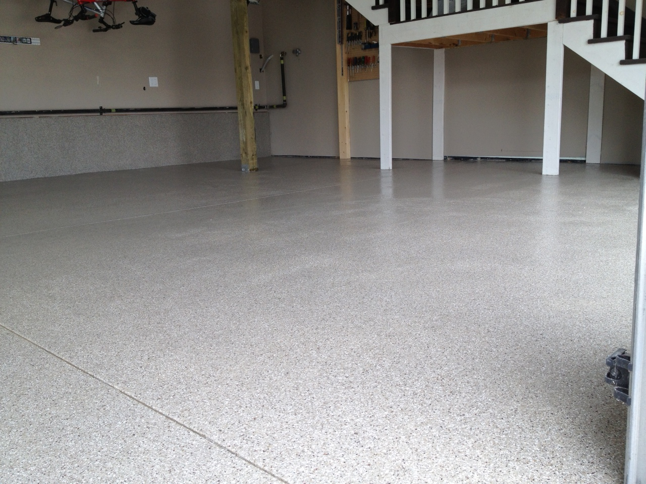 Residential interior concrete floor